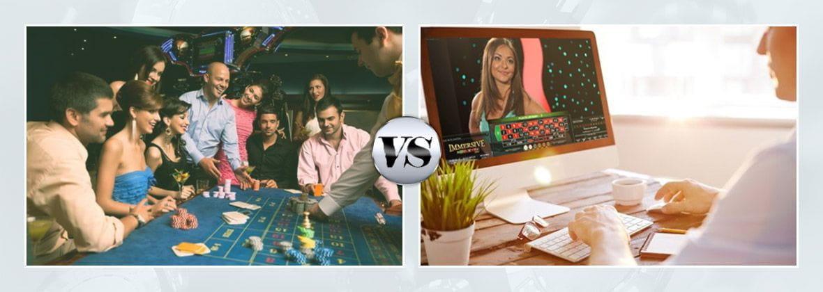 Eine klassische Casino-Szene im Vergleich zu einem Online-Spieler