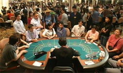 a busy casino