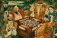 Geschiedenis Chinezen spelen Mahjong