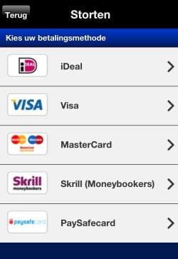 Betalingsmethodes Casino Euro mobiel