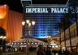 Imperial Palace casino at night