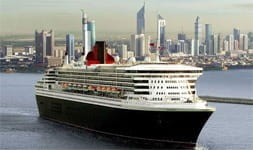 A Cunard cruise ship