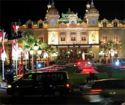 La Place du Casino at night