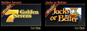 Golden 7's und Jacks or Better