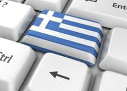 Greek flag keyboard