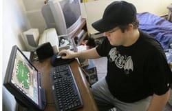 Online gambler