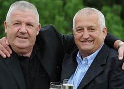 Rab Layden und Willie Sibbald