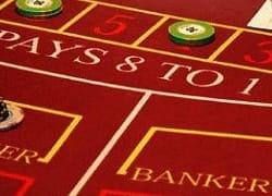 Spieltisch mit dem wort banker
