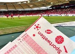 Sportwetten-Los im Fußballstadion