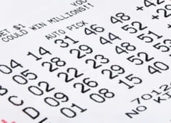 Zahlen auf Lotterielos