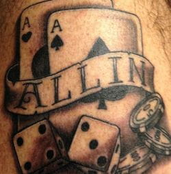 All-in poker tattoo