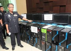 Computers seized illegal gambling