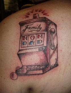 Family slot tattoo