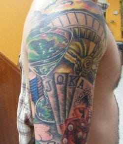Gambling items tattoo