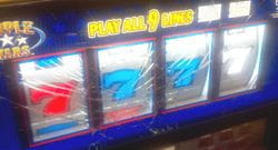 Gambling machine damaged