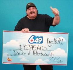 John Pirie lotto jackpot