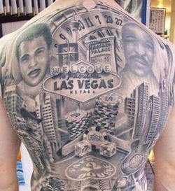 Las Vegas tattoo back