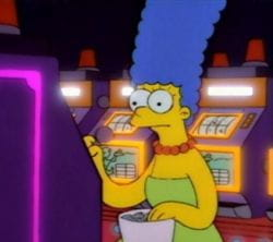 Marge gambling problem episode cesar palace casino las vegas