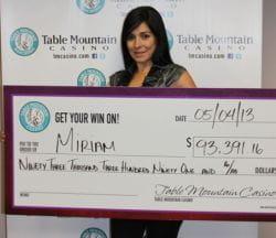 Miriam jackpot winner
