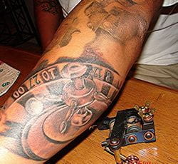 Roulette tattoo machine