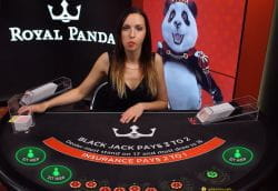 Royal Panda Live Blackjack table