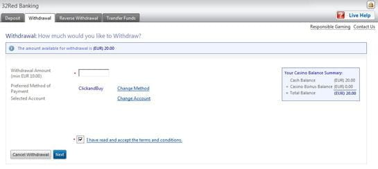 32 Red fund withdrawal ClickandBuy