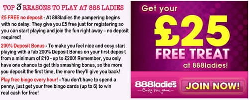 888ladies bingo bonus