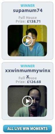 bingocams live wins