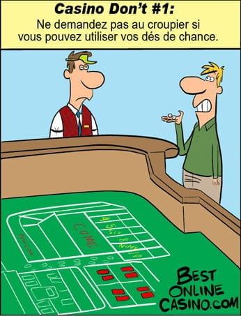 La première chose à éviter au casino: Dés de chance