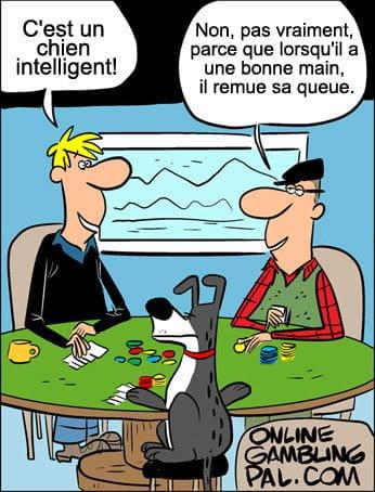 Les chiens jouent au poker