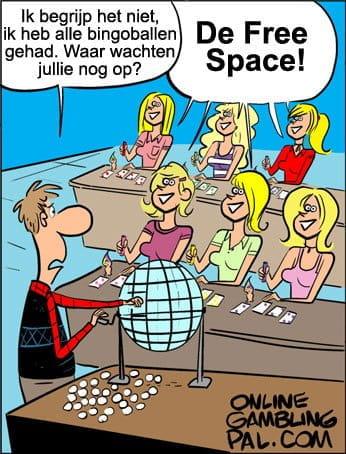 Blondjes spelen bingo