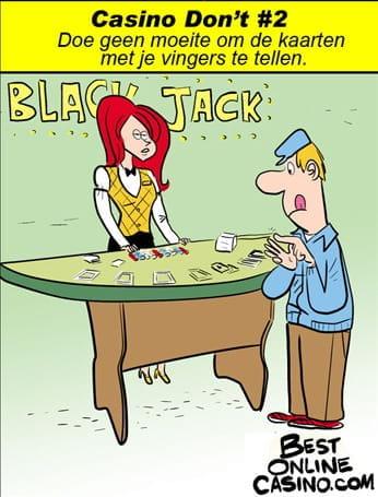 Casino don't #2: kaarten tellen