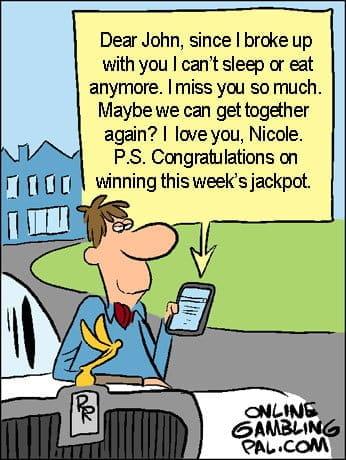 The ex winning the jackpot