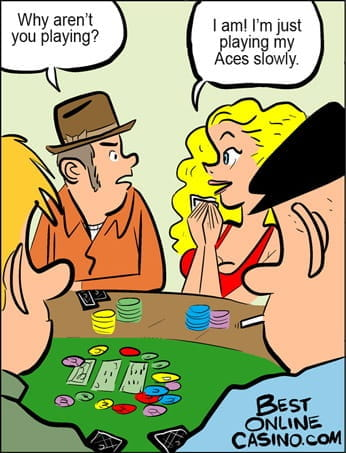 Playing aces slowly