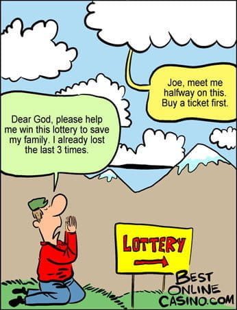 Praying for the lottery