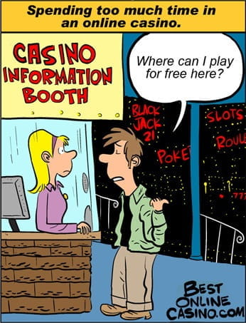 Spending too much time in an online casino