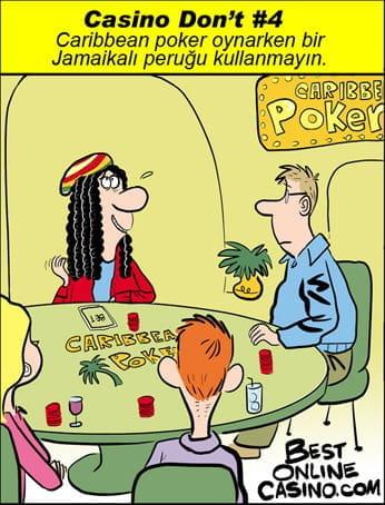 Casino don't # 4: Caribbean stud poker