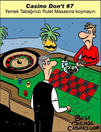 Casino Don't #7: Yemek Tabağınızı rulet Masasına Koymayın