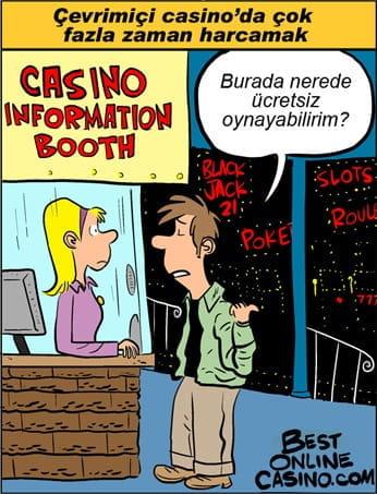 Çevrimiçi casino'da çok fazla zaman harcamak