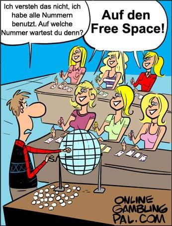 Blondinen spielen Bingo