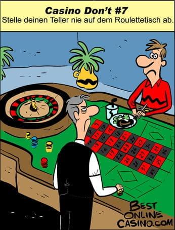 Casino Don't #7: Stelle deinen Teller Nie Auf dem Roulettetisch ab