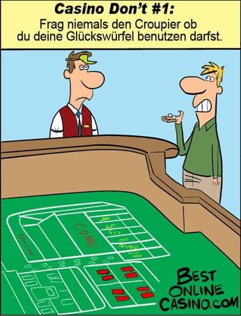 Casino's don't nr.1: Glückswürfel