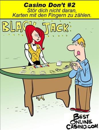 Casino Don´t #2: Zählt Karten