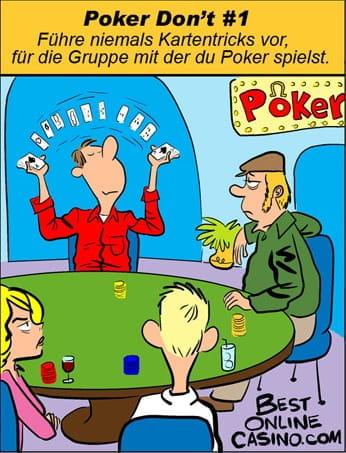 Poker don´t nr. 1: kartentricks