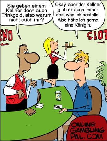Trinkgeld für den Blackjack Dealer