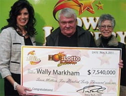 Wally Markham lotto winner