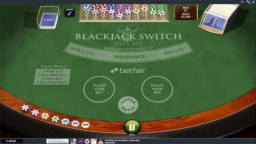 Casinos offering blackjack switch igt video slot machine for sale