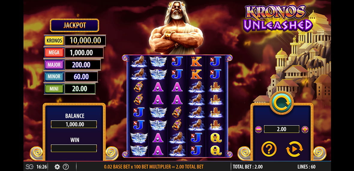 Kronos Unleashed Slot Machine App